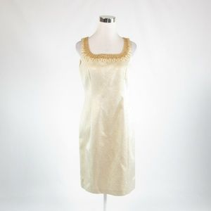 Kay Unger beige sleeveless dress 6